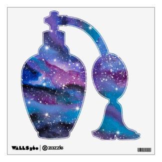 Galaxia de la acuarela del arte del espacio vinilo