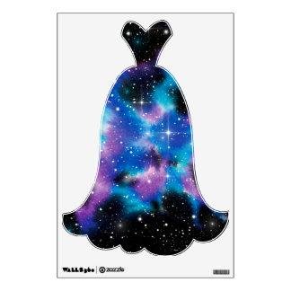 Galaxia de la acuarela del arte del espacio vinilo adhesivo