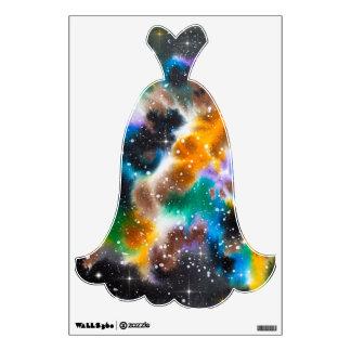 Galaxia de la acuarela del arte del espacio vinilo decorativo