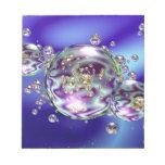 Galaxia de la burbuja blocs de papel