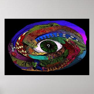 Galaxia de la deformación de la mente poster