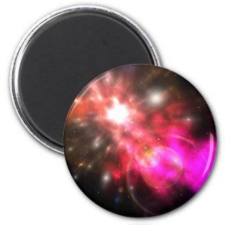 Galaxia de la luz iman para frigorífico