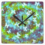 galaxia de la mariposa reloj de pared