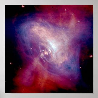 Galaxia de la nebulosa de cangrejo de NASAs Chandr Posters