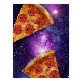 Galaxia de la pizza del dux tarjeta postal