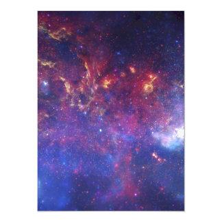 """Galaxia de la vía láctea - nuestra vecindad invitación 5.5"""" x 7.5"""""""