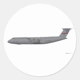 Galaxia de Lockheed C-5 Pegatina Redonda