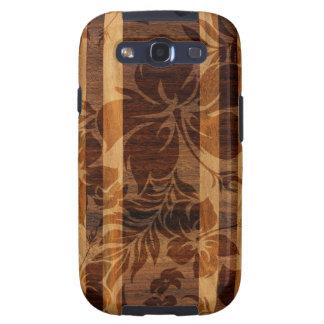 Galaxia de madera de Samsung de la tabla hawaiana Galaxy SIII Coberturas
