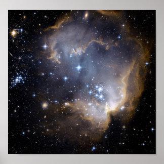 Galaxia de NASAs NGC602 Póster