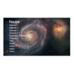 Galaxia de NASAs Whirlpool Plantilla De Tarjeta De Negocio