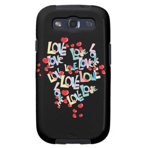 Galaxia de Samsung del amor Galaxy SIII Carcasas