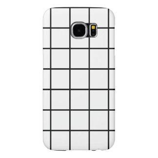 Galaxia de Samsung del modelo del cuadrado de tela Funda Samsung Galaxy S6