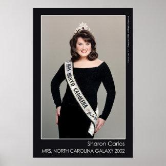 Galaxia de señora Carolina del Norte - Sharon Carl Posters