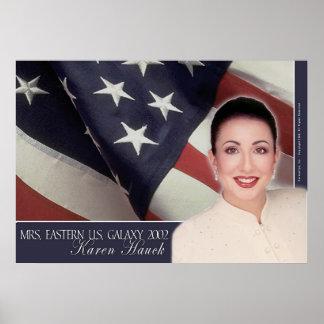 Galaxia de señora Eastern los E.E.U.U., Karen Hauc Posters