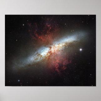 Galaxia de Starburst, 82 más sucios Póster