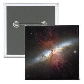 Galaxia de Starburst, 82 más sucios Pin Cuadrado