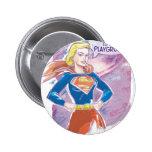 Galaxia de Supergirl Pin Redondo De 2 Pulgadas