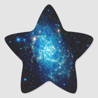 Galaxia de Triangulum Pegatina En Forma De Estrella