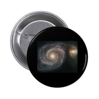 Galaxia de Whirlpool (M51) Pin Redondo De 2 Pulgadas