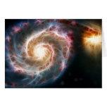 Galaxia de Whirlpool (M51) y compañero Felicitación