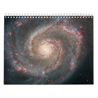 Galaxia de Whirlpool (M51) y galaxia del compañero Calendarios