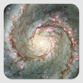 Galaxia de Whirlpool Pegatina Cuadrada