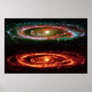 Galaxia del Andromeda en 36x24 Rojo-ULTRAVIOLETA ( Impresiones