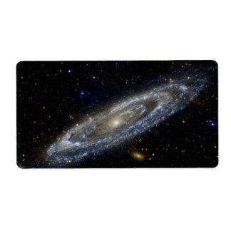 Galaxia del Andromeda Etiqueta De Envío