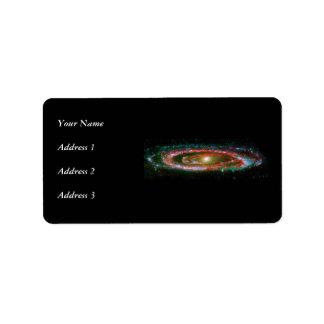 Galaxia del Andromeda Etiquetas De Dirección