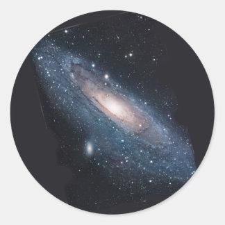 Galaxia del Andromeda M31 Pegatina Redonda