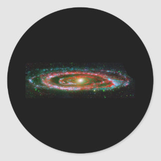 Galaxia del Andromeda Pegatina Redonda