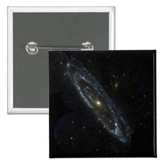 Galaxia del Andromeda Pin Cuadrado