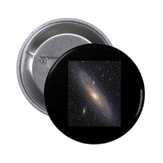 Galaxia del Andromeda Pin Redondo De 2 Pulgadas