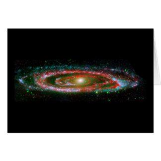 Galaxia del Andromeda Tarjeta