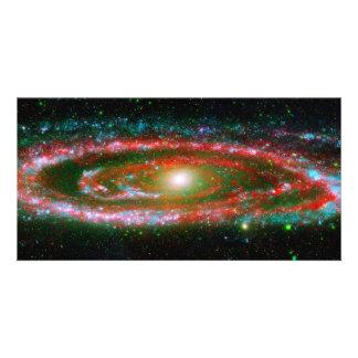 Galaxia del Andromeda Tarjetas Fotográficas Personalizadas