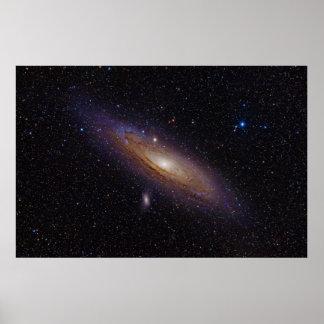 Galaxia del Andromeda tomada con el filtro de la Póster