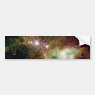 Galaxia del árbol de navidad pegatina de parachoque