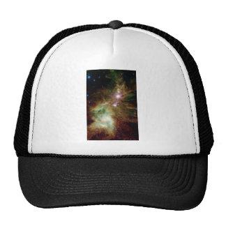 Galaxia del árbol de navidad gorras