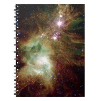 Galaxia del árbol de navidad libros de apuntes