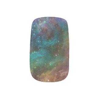 Galaxia del arco iris psicodélica stickers para manicura