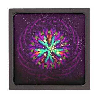 Galaxia del arte de lujo púrpura del caleidoscopio cajas de recuerdo de calidad