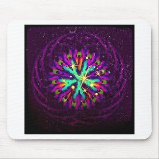 Galaxia del arte de lujo púrpura del caleidoscopio alfombrilla de ratón
