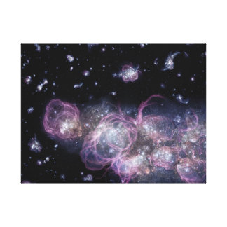 Galaxia del bebé en espacio impresión en lienzo