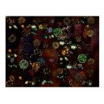 Galaxia del collage 2of4 2859b de los fuegos artif tarjeta postal