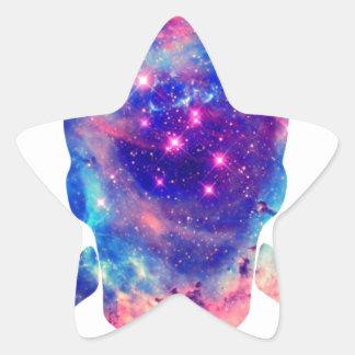 Galaxia del cráneo pegatinas forma de estrellaes