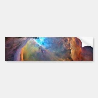 Galaxia del espacio de la nebulosa de Orión Pegatina De Parachoque
