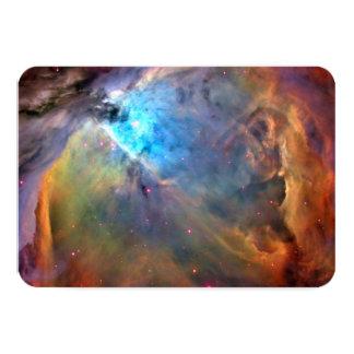 """Galaxia del espacio de la nebulosa de Orión Invitación 3.5"""" X 5"""""""