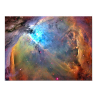 """Galaxia del espacio de la nebulosa de Orión Invitación 5.5"""" X 7.5"""""""