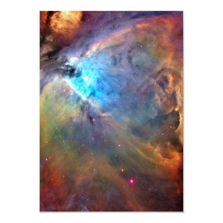 """Galaxia del espacio de la nebulosa de Orión Invitación 5"""" X 7"""""""