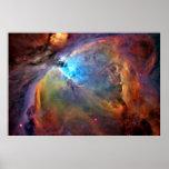 galaxia del espacio de la nebulosa de Orión Posters